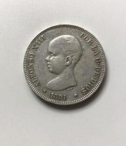 5ペセタ銀貨