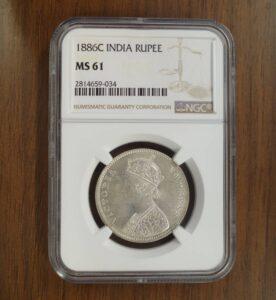 イギリス ルピー銀貨