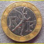 10フラン バイメタル硬貨