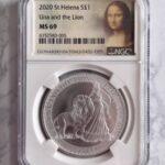 モナリザ ウナとライオン銀貨