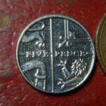 イギリス5ペンス硬貨